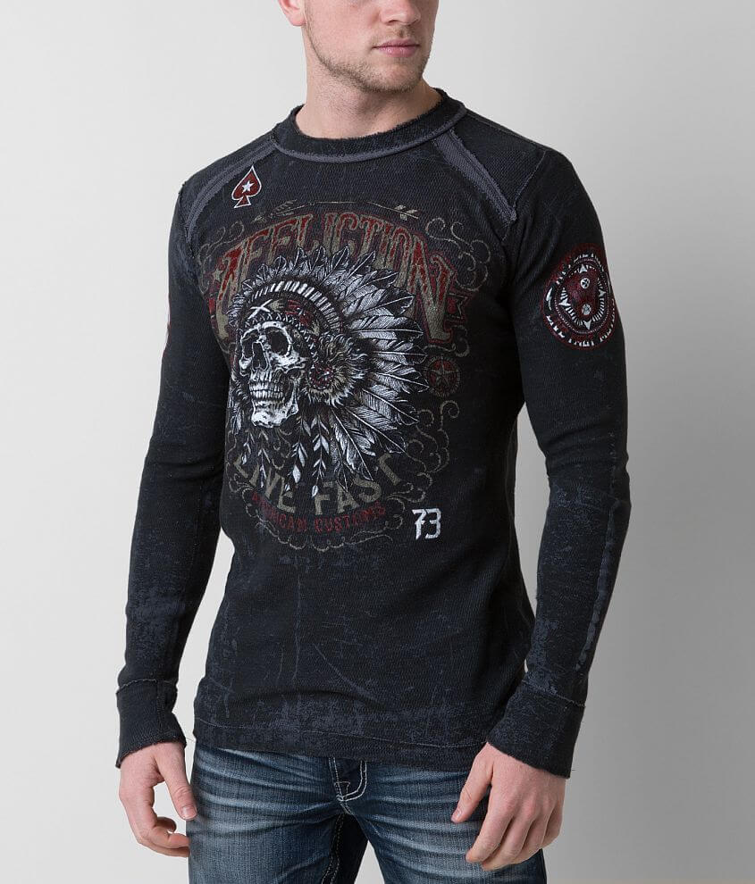 Affliction American Customs Iroquois Thermal Shirt front view
