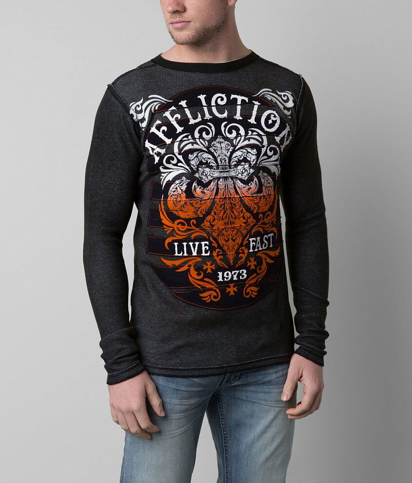 Affliction Truth & Consequence Thermal Shirt front view
