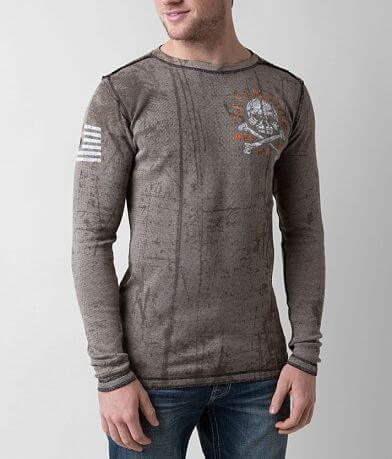 Affliction American Customs Defender Thermal Shirt