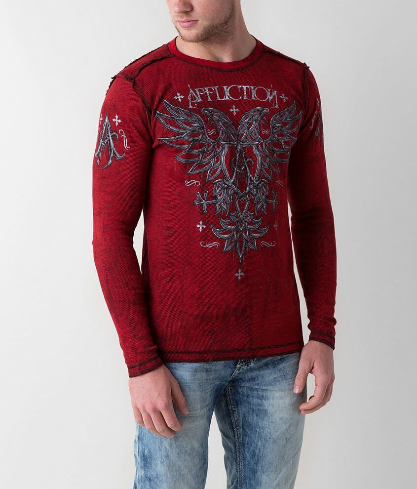 Affliction Spectra Reversible Thermal Shirt front view