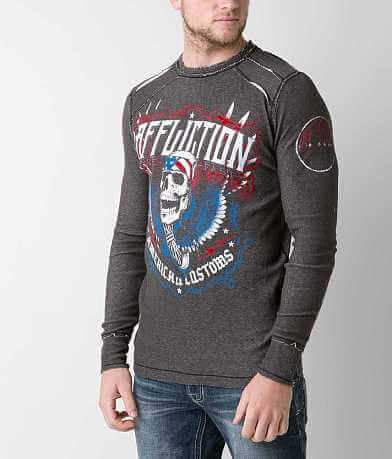 Affliction Thunderclap Reversible Thermal Shirt