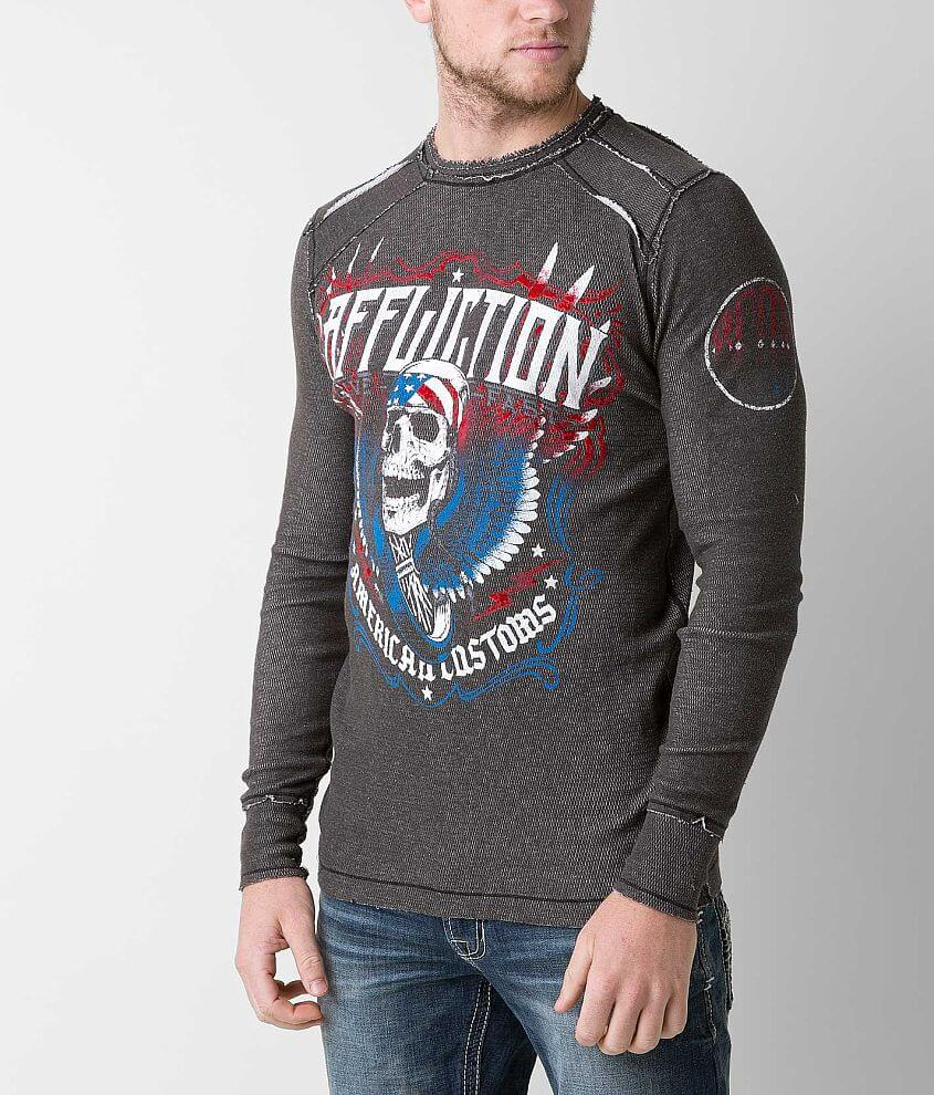 Affliction Thunderclap Reversible Thermal Shirt front view