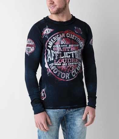 Affliction Oil Spill Reversible Thermal Shirt