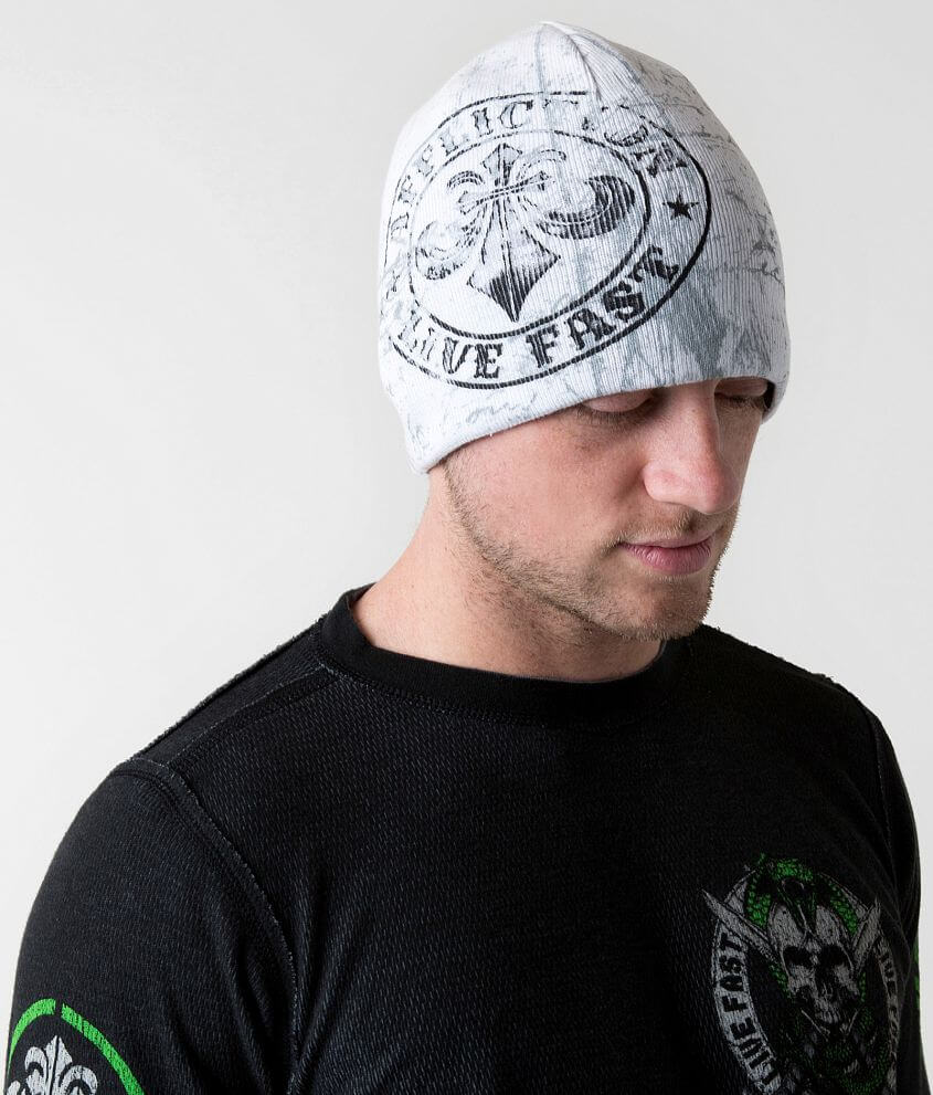 Affliction Divio Varnish Reversible Beanie front view