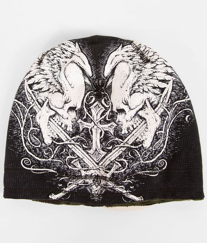 Affliction Sword Eater Reversible Beanie front view