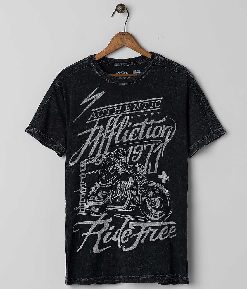 Affliction American Customs Ride Free T-Shirt front view