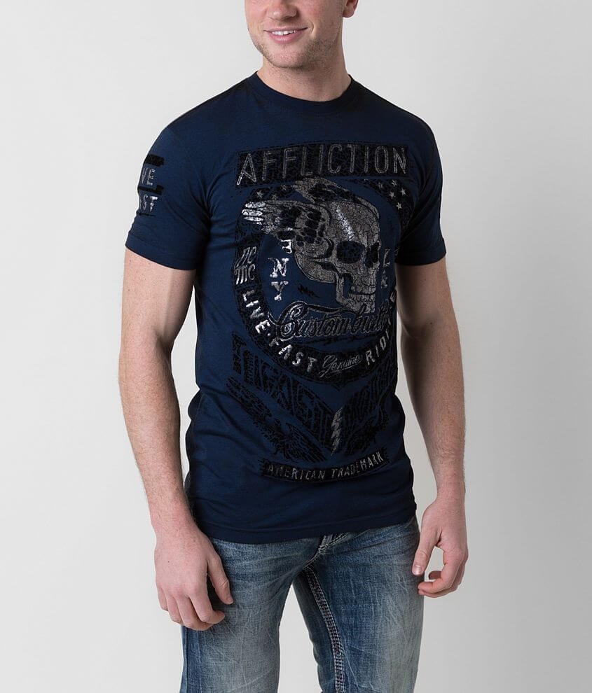 Affliction American Customs Fast Motors T-Shirt front view