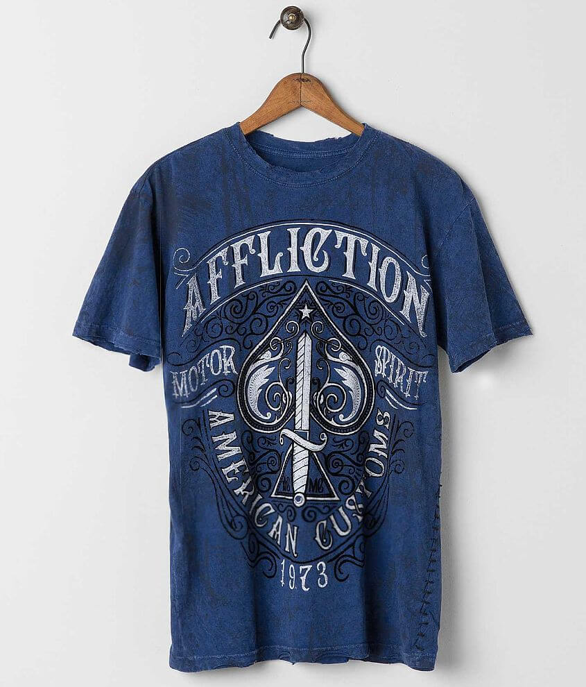 Affliction American Customs Death Spade T-Shirt front view