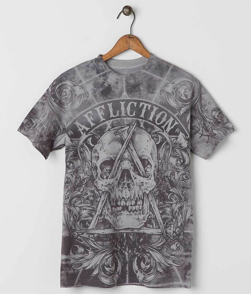 Affliction White Noise T-Shirt front view