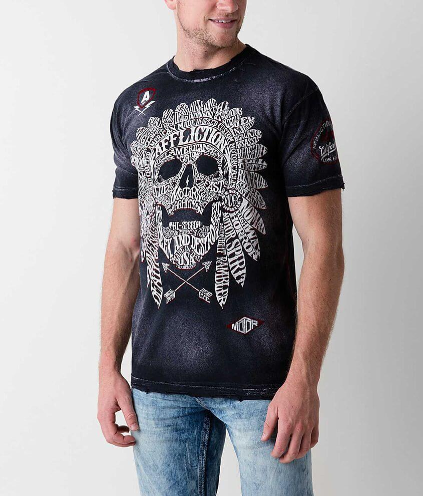 Affliction American Customs Native Tongue T-Shirt front view