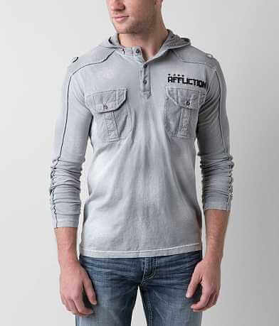 Affliction Coaxial Henley Hoodie