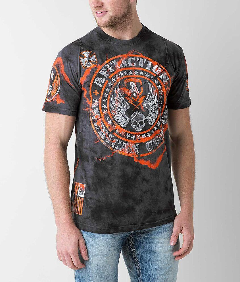Affliction American Customs Moto Hellion T-Shirt front view