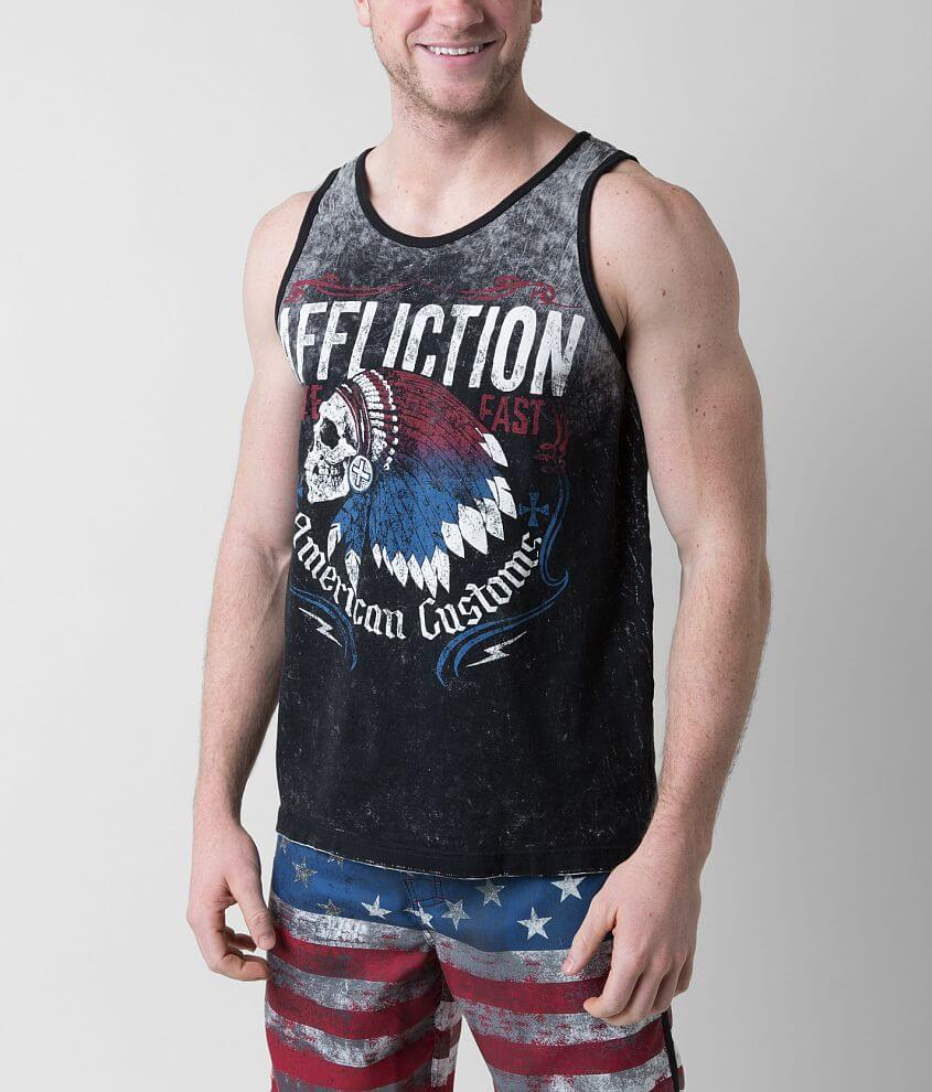 Affliction Tomahawk Reversible Tank Top front view
