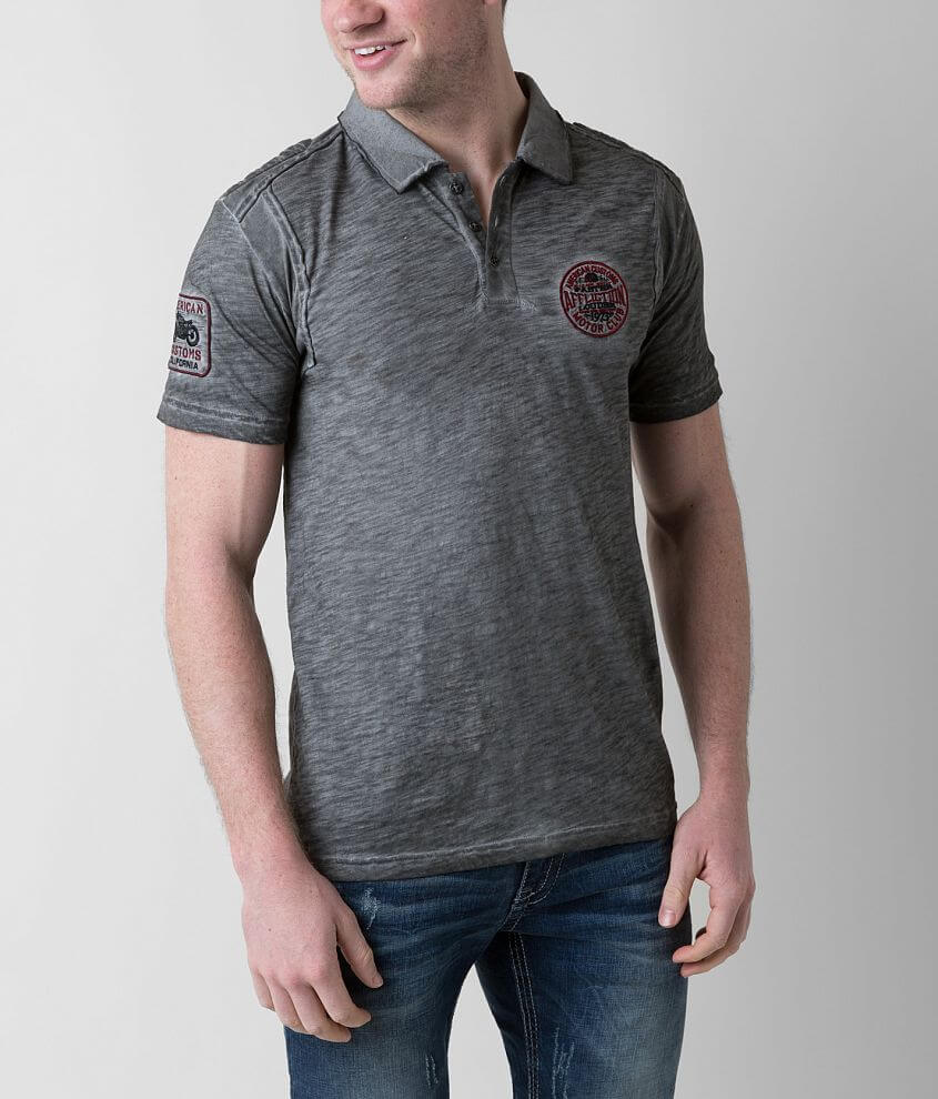 Affliction American Customs Standard Pledge Polo front view