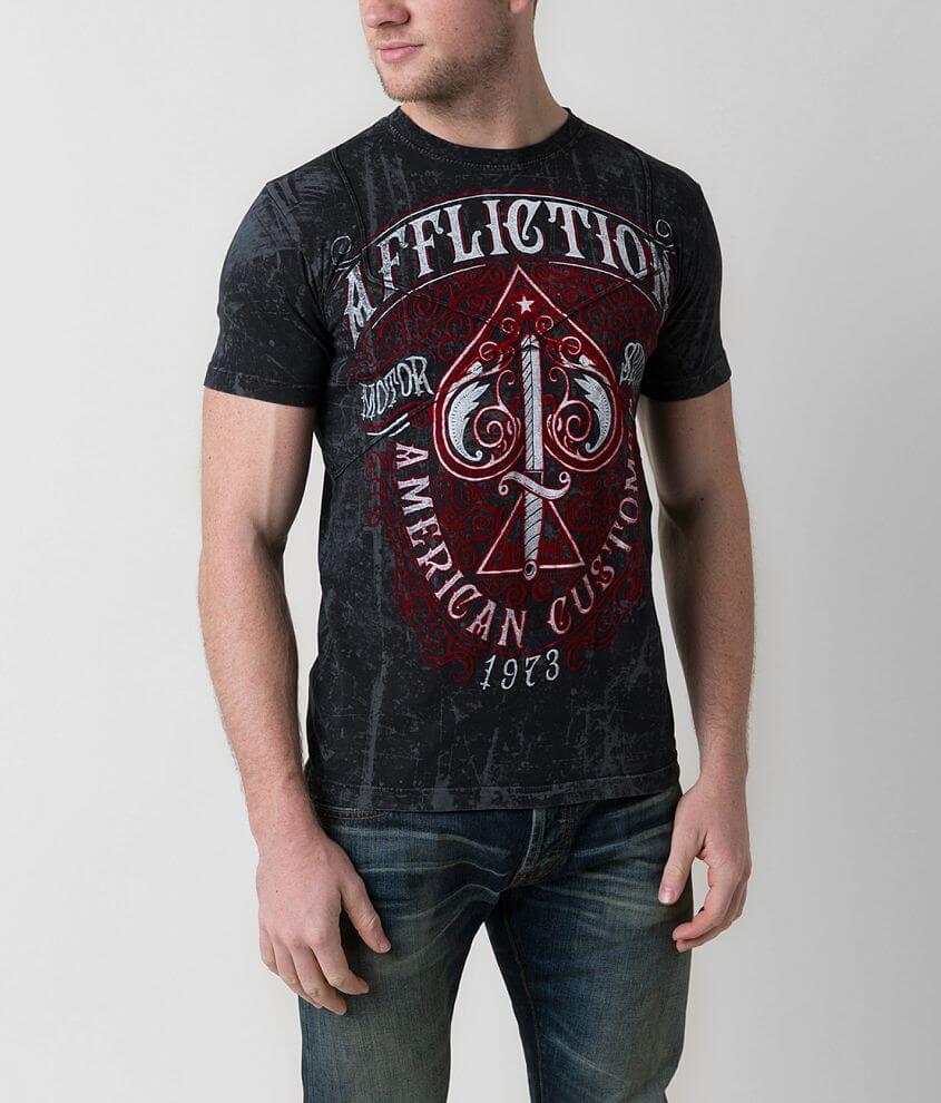 Affliction Death Spade T-Shirt front view