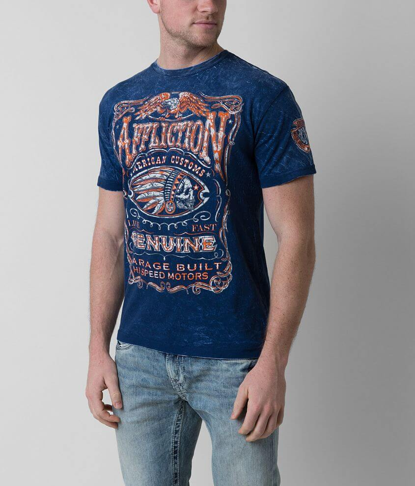 Affliction Genuine Whiskey Reversible T-Shirt front view