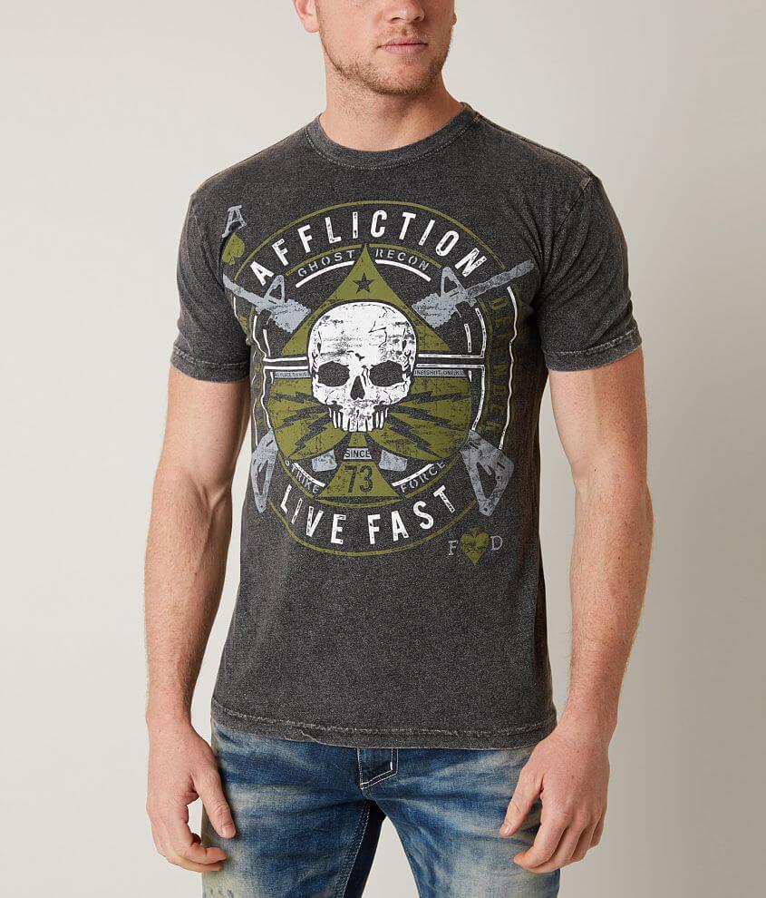 Affliction Freedom Defender Lightning T-Shirt front view