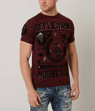 Affliction American Customs Two Pistons T-Shirt