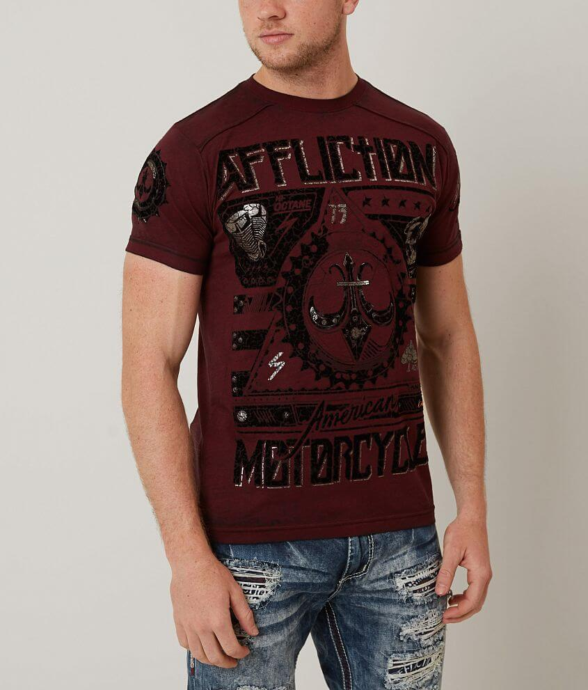Affliction American Customs Two Pistons T-Shirt front view