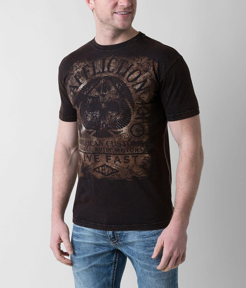Affliction American Customs Gas Guzzler T-Shirt front view