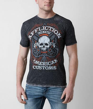 Affliction American Customs Piston Spade T-Shirt