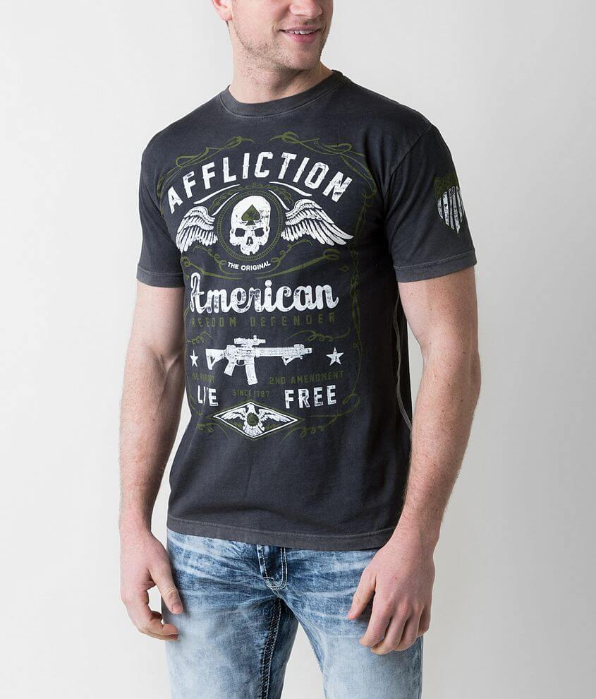 Affliction Freedom Defender American T-Shirt front view
