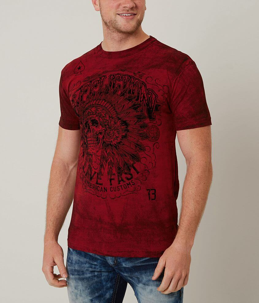 Affliction American Customs Iroquois T-Shirt front view