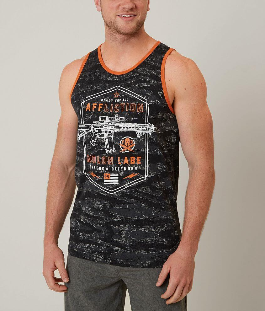 Affliction Freedom Defender Molon Labe Tank Top front view