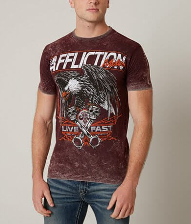 Affliction American Customs Eagle Motor T-Shirt