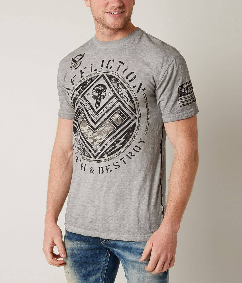 Affliction Search & Destroy T-Shirt front view