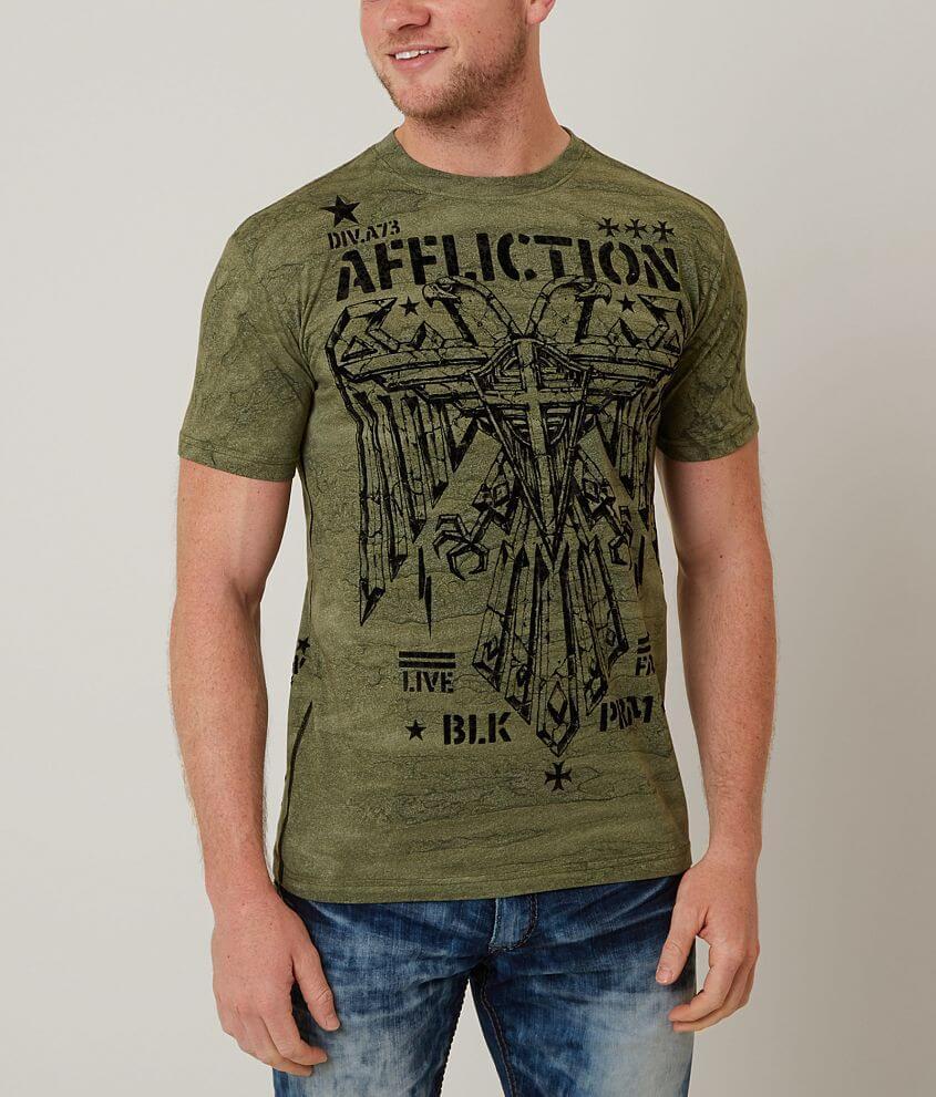 Affliction Silent Eagle T-Shirt front view