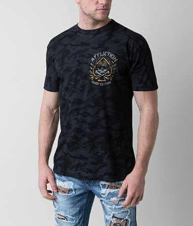 Affliction American Customs Black Ace T-Shirt