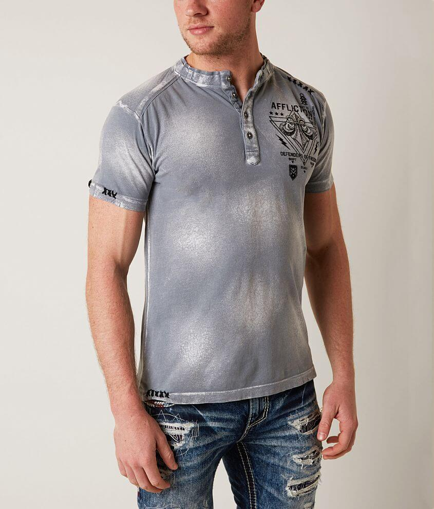 Affliction Unit 73 Henley front view
