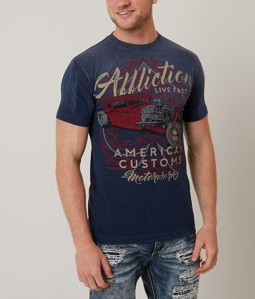 Affliction American Customs Shifter T-Shirt front view