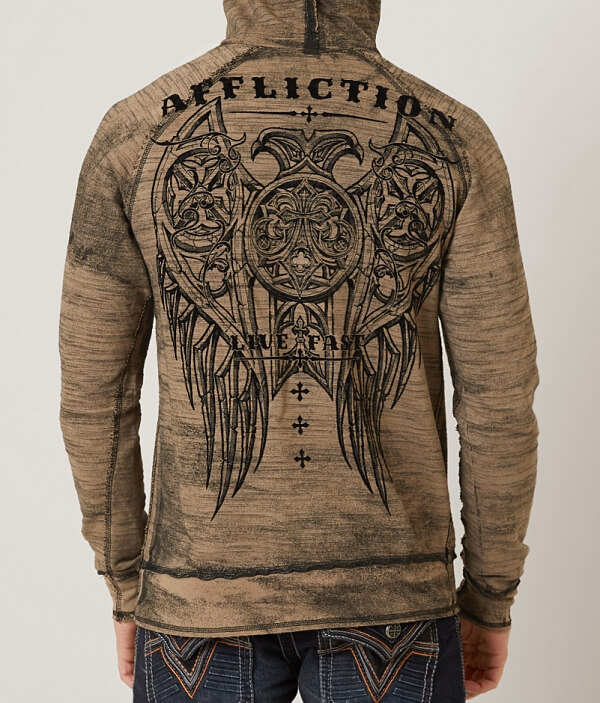 Royale Reversible Affliction Hooded Reversible Affliction Sweatshirt Royale 5qn7vRv