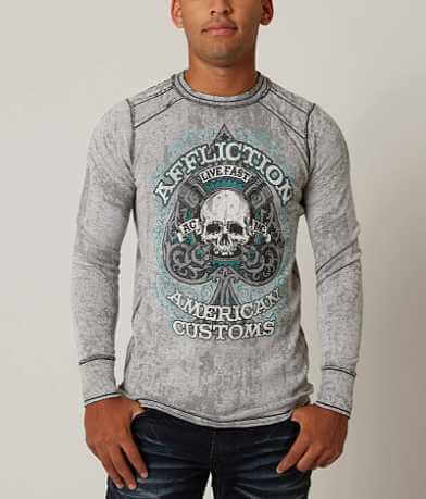Affliction Piston Spade Thermal Shirt