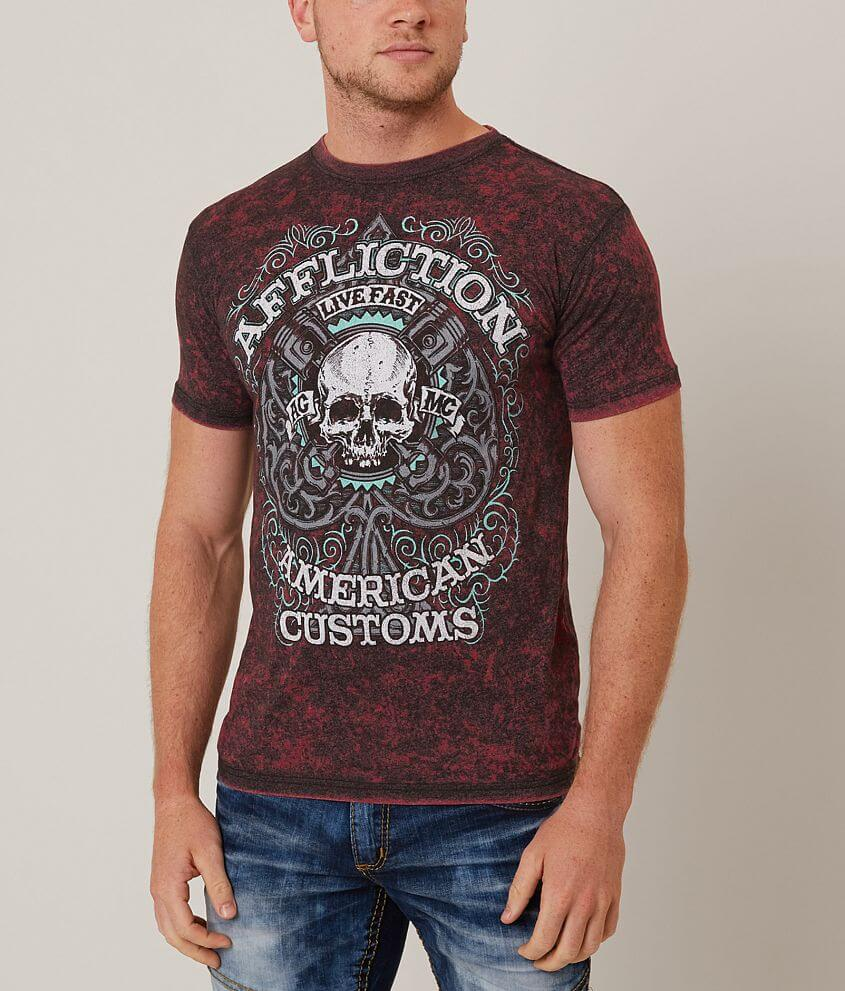 Affliction American Customs Piston Spade T-Shirt front view