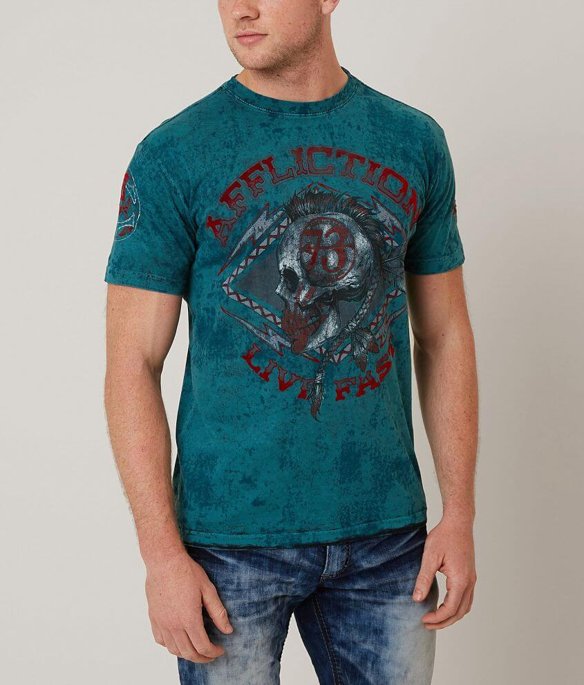 Affliction American Customs Warpath T-Shirt front view