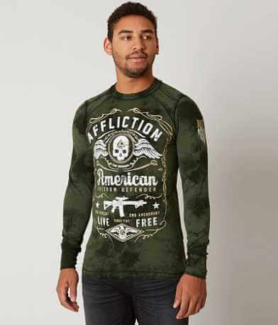 Affliction American Defender Thermal T-Shirt