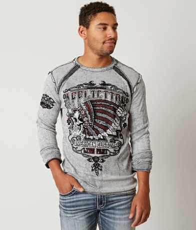 Affliction Green Leaf Reversible Thermal Shirt
