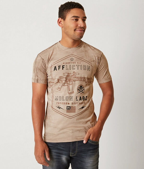 Freedom Affliction Defender T Molon Labe Shirt 86A67qdw