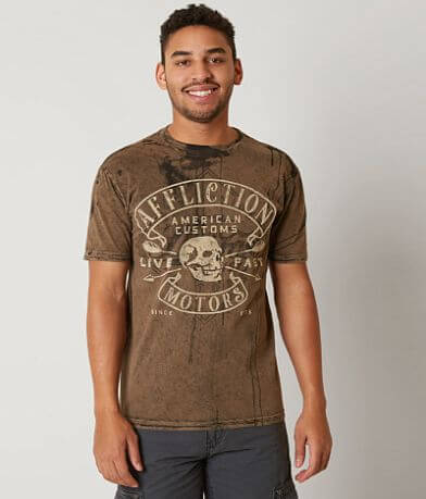 Affliction American Customs Diamond Motors T-Shirt
