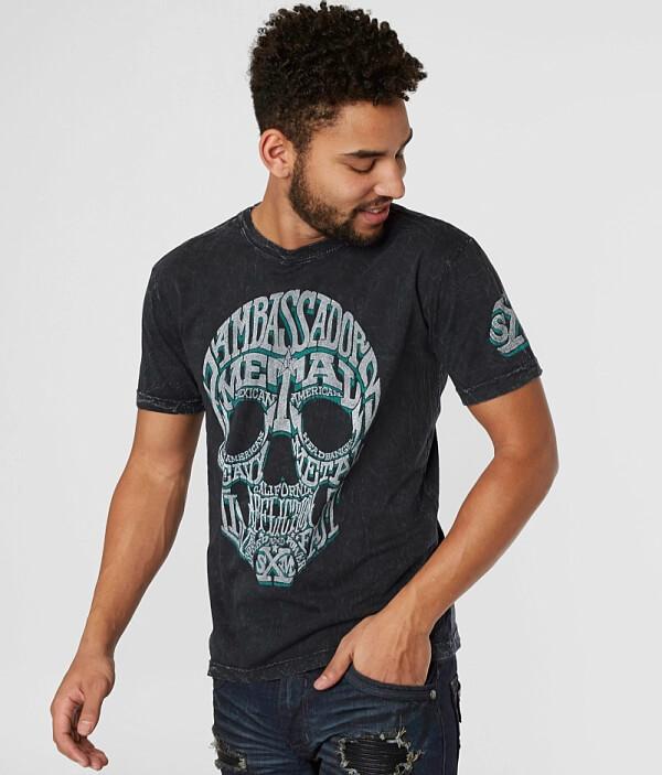 T T Mangin T Shirt Affliction Affliction Affliction Metal Mangin Shirt Metal Mangin Metal OSZ4qwPx