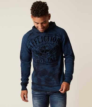 Affliction Sketch Death Reversible Sweatshirt