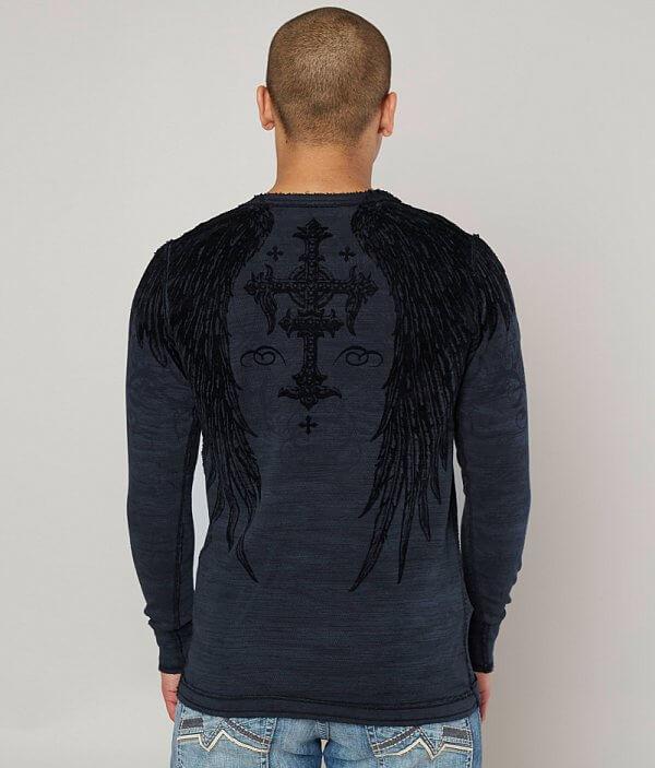 Saint T Scream Shirt Affliction Thermal YSgfwnq
