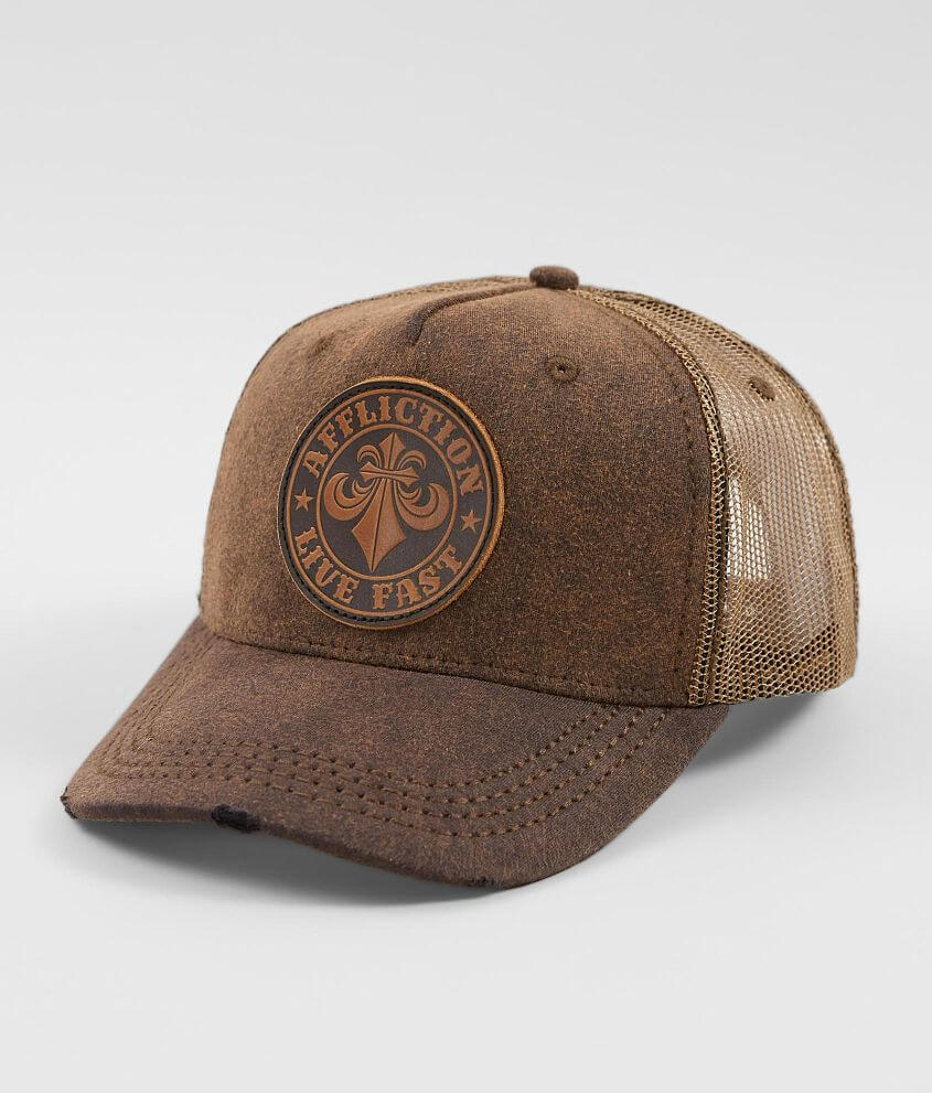 b31ad0fd Affliction Divio Trucker Hat - Men's Hats in Black Brown | Buckle