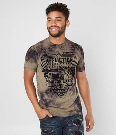 Affliction Freedom Defender Never Defeated T-Shirt