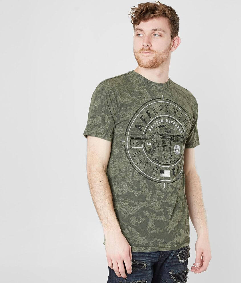 Affliction Freedom Defender Live Fast T-Shirt front view