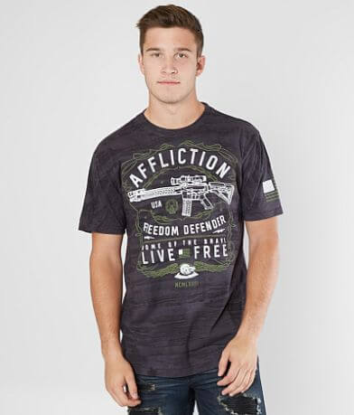 Affliction Freedom Defender Effect T-Shirt