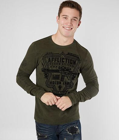 Affliction Freedom Defender Never Thermal Shirt